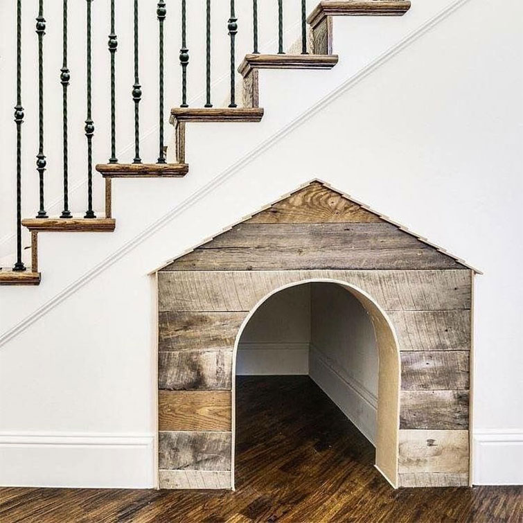Under the Stairs Built In Dog House
