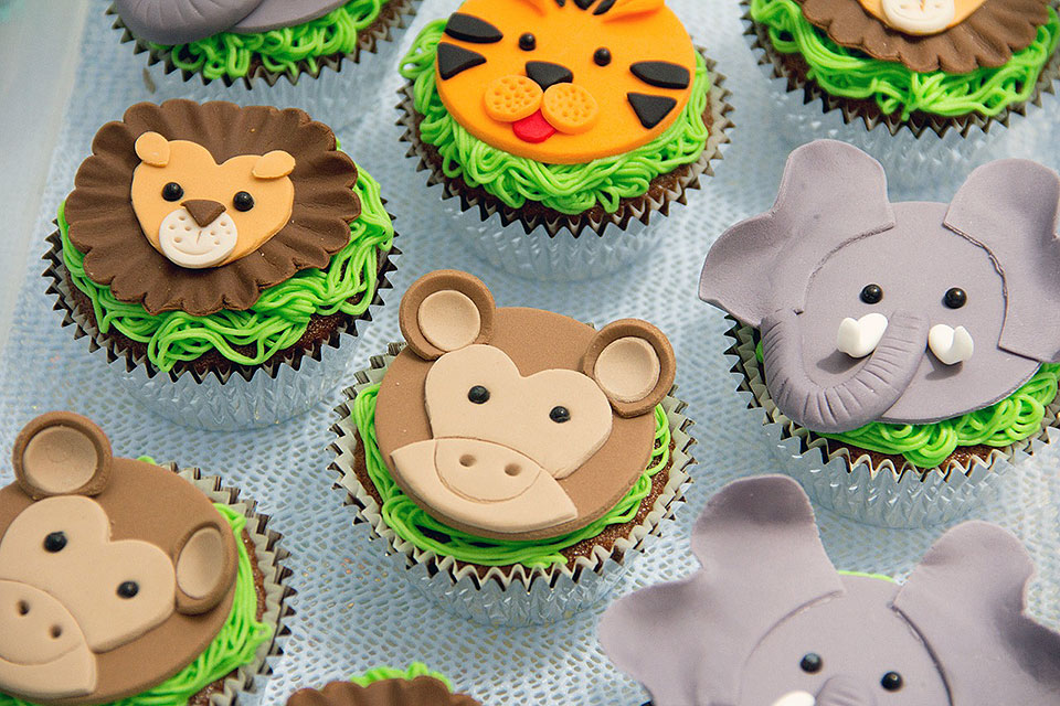 Zoo Animals Kids Cupcakes