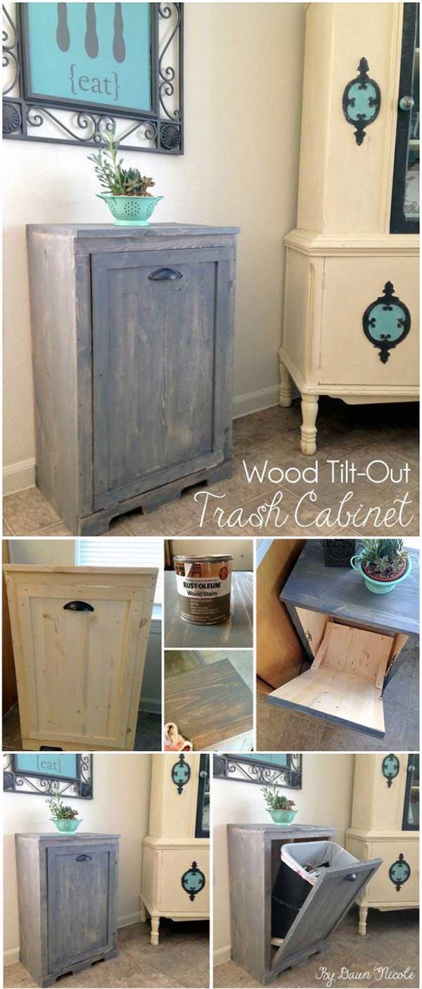 DIY Tilt Out Garbage Bin