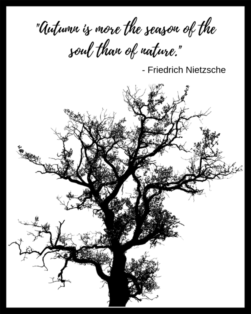 Friedrich Nietzsche Autumn Quote Free Fall Printable