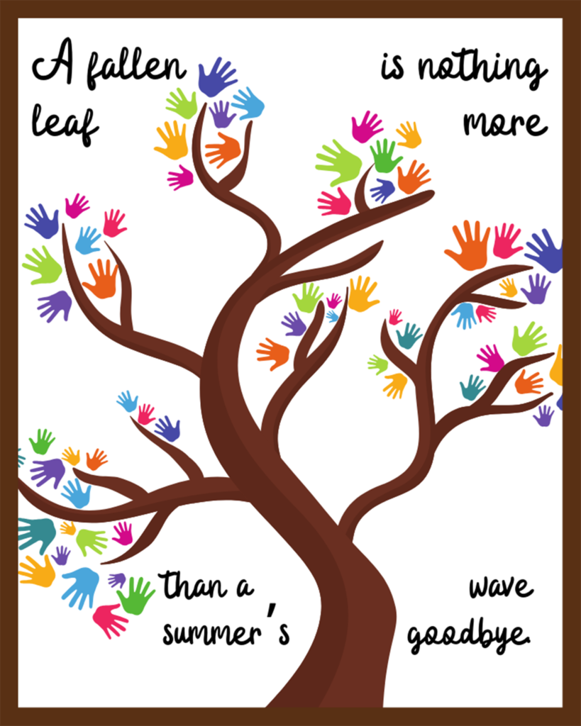 Summer's Wave Goodbye Free Fall Printable 8x10
