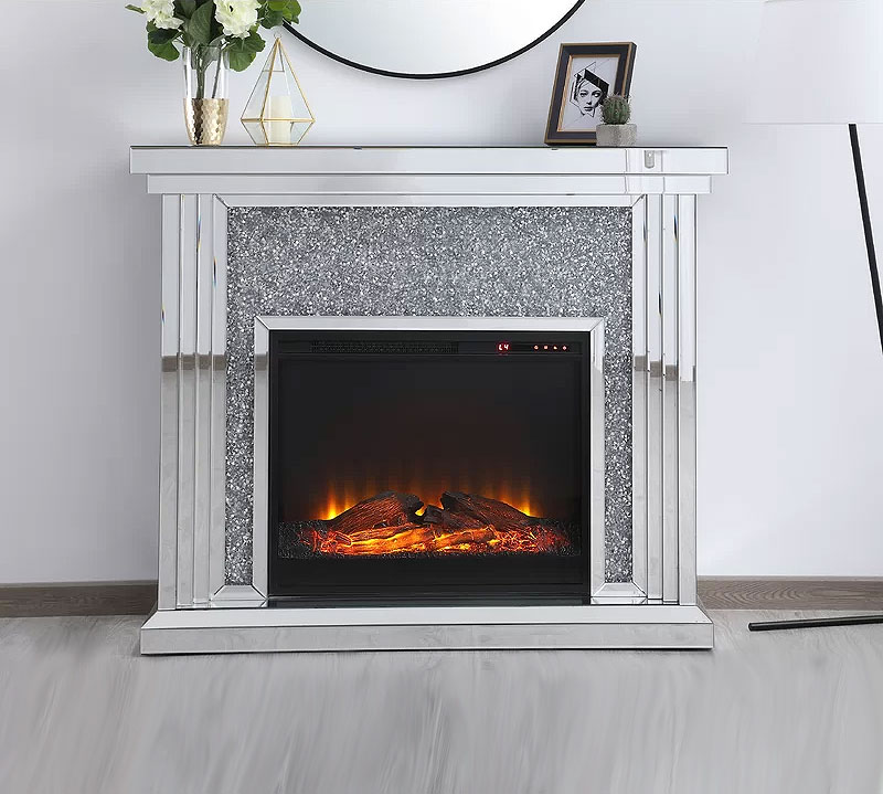 Aarav Mirrored Electric Fireplace