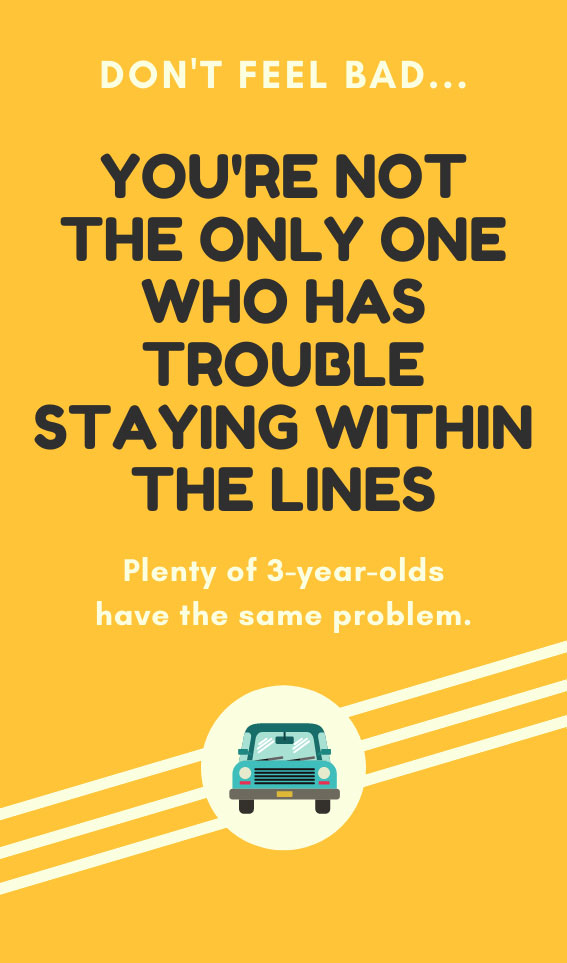 Staying Within the Lines | Bad Parking Business Card Note