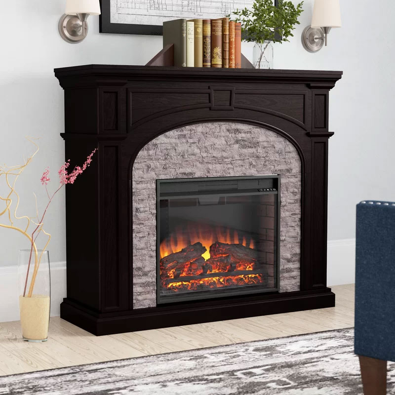 Contreras Traditional Electric Fireplace