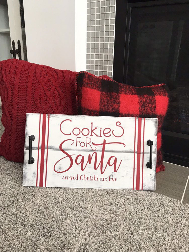 Cookies for Santa Serving Tray