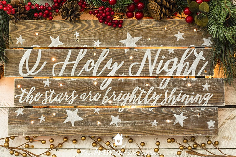 DIY Rustic Christmas Sign