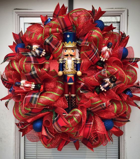 DIY Toy Nutcracker Wreath