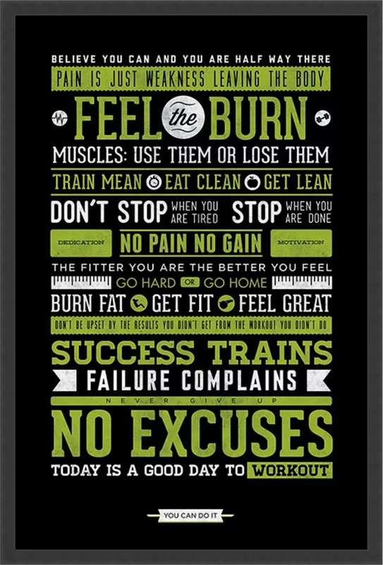 Feel the Burn Fitness Art Print