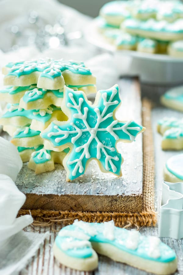 Gluten-Free Snowflake & Candy Cane Sugar Cookies