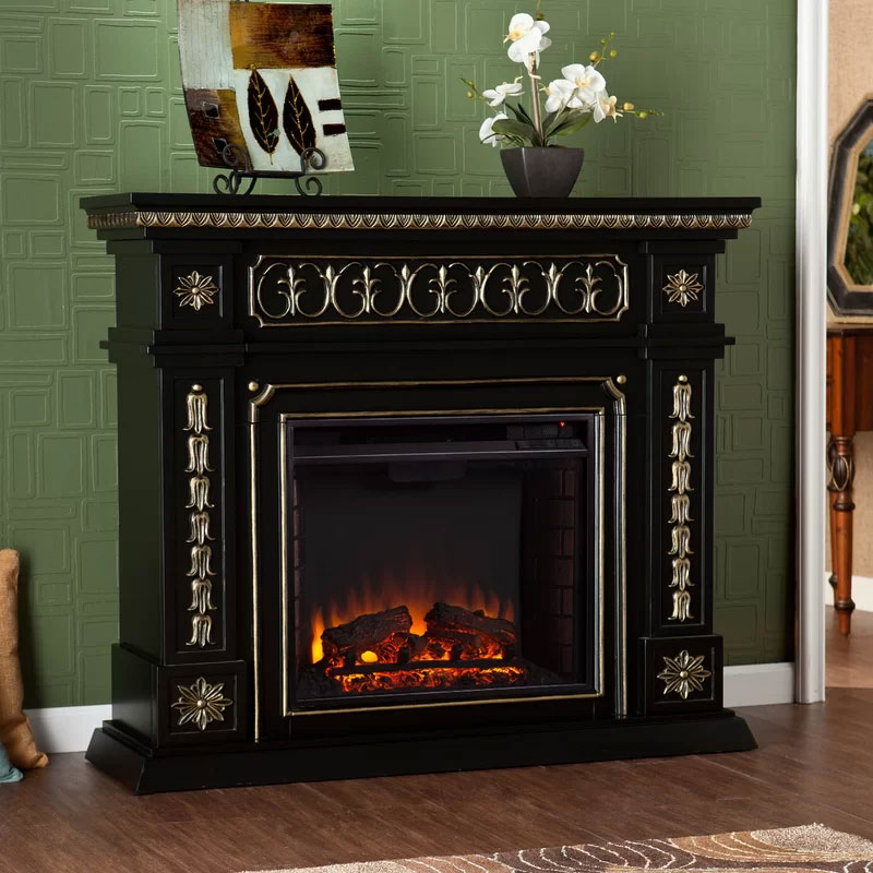 Henjes Black and Gold Fireplace