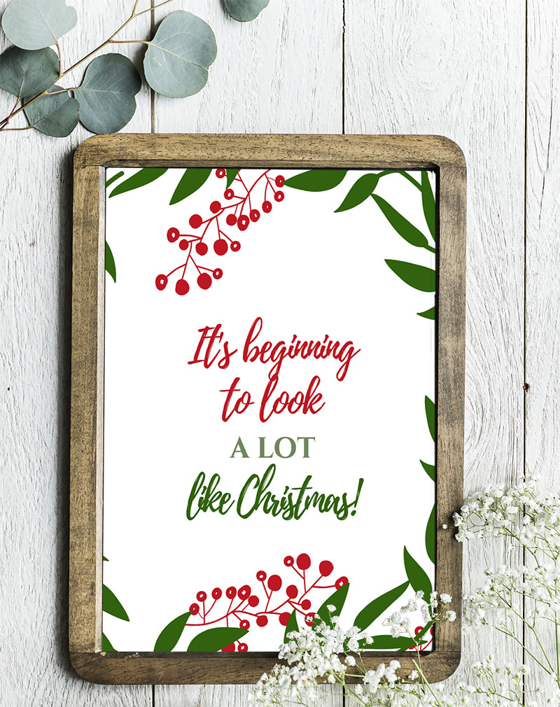 Framed Christmas Quote Printable