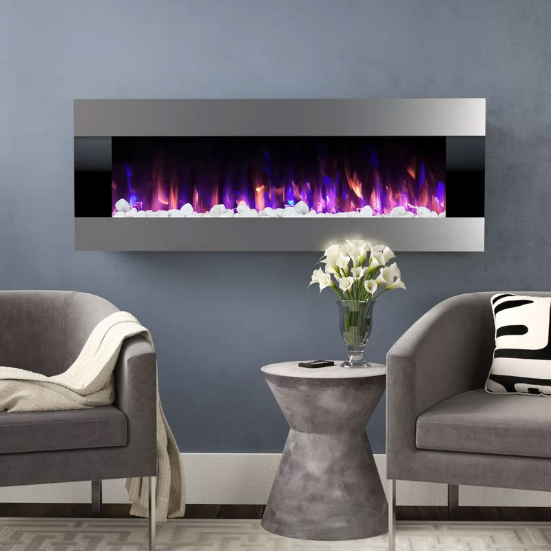 Quesinberry Wall Mounted Electric Fireplace