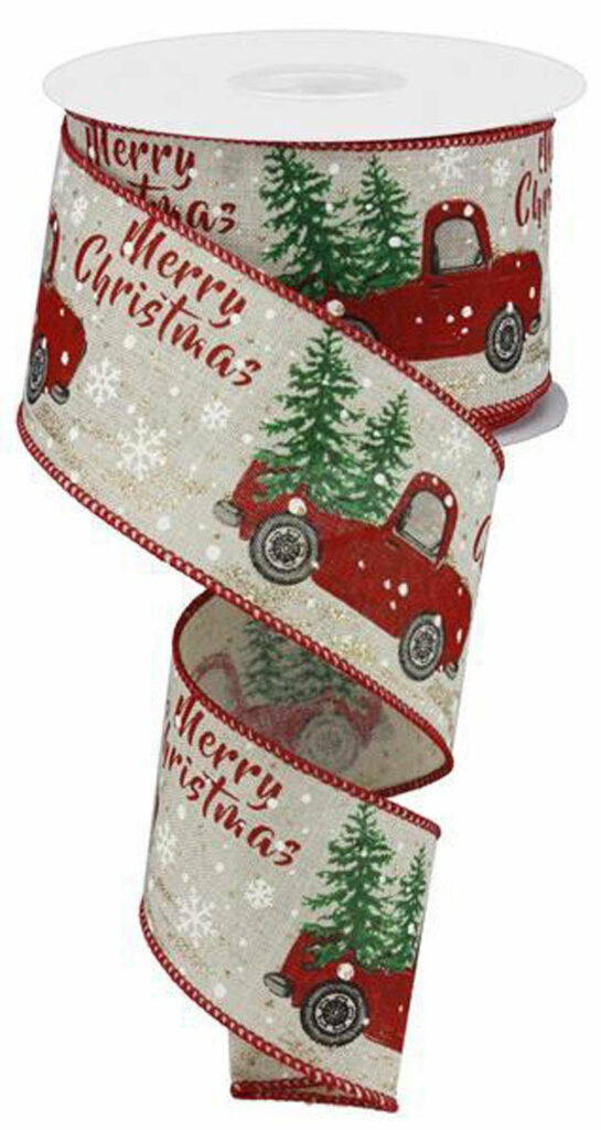 Christmas Truck Ribbon