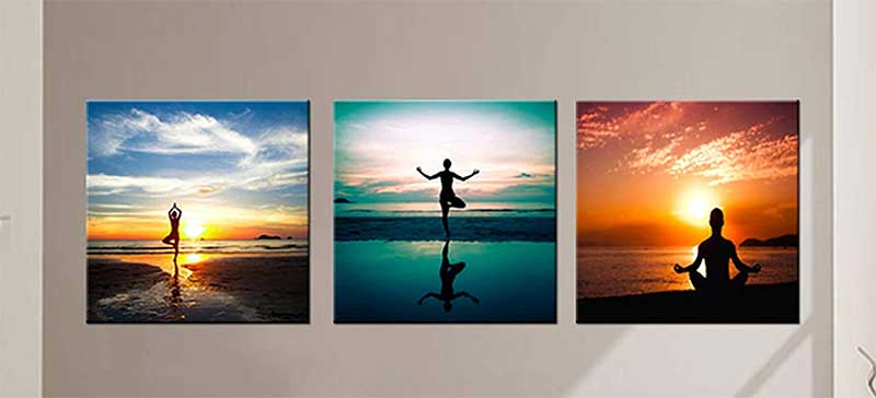 Seaside Yoga Art Set