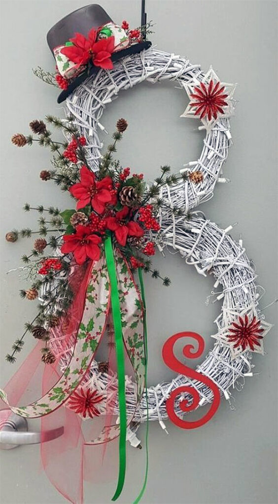 Snowman Twig Wreath