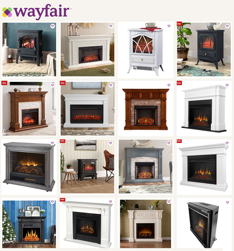 Wayfair Electric Fireplace Collection