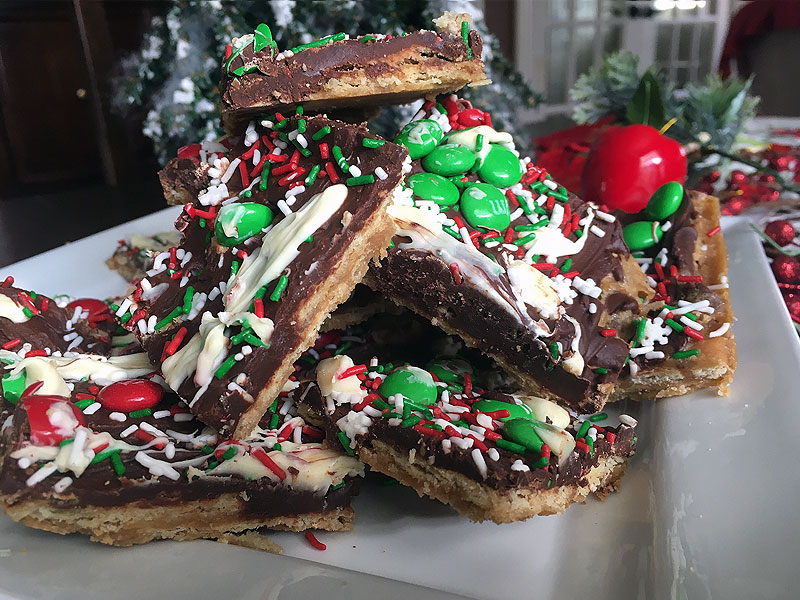 Colorful Christmas Crack Cookie Recipe