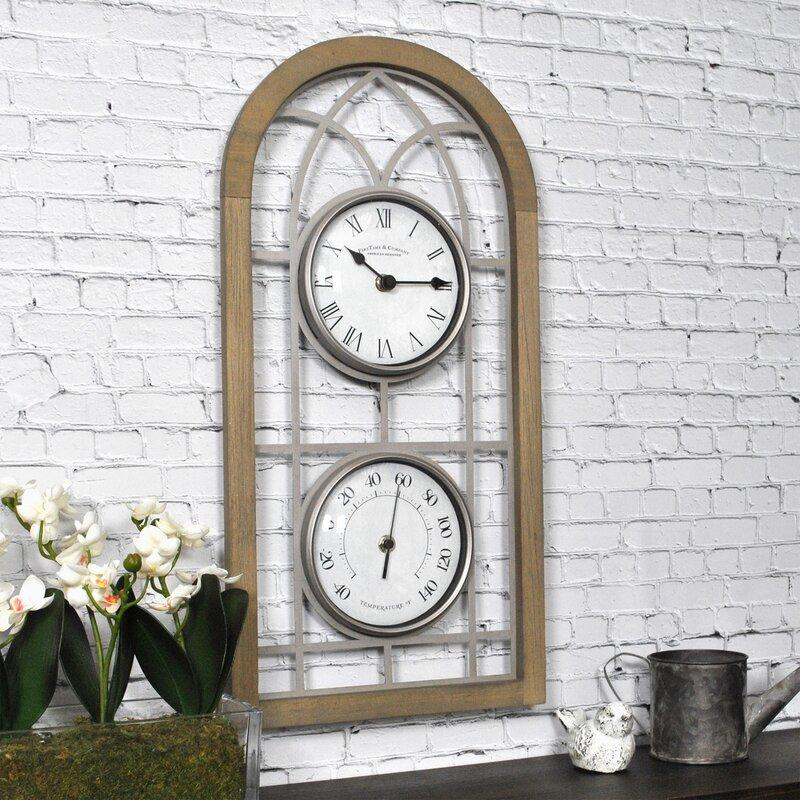 Arch Outdoor Wall Clock