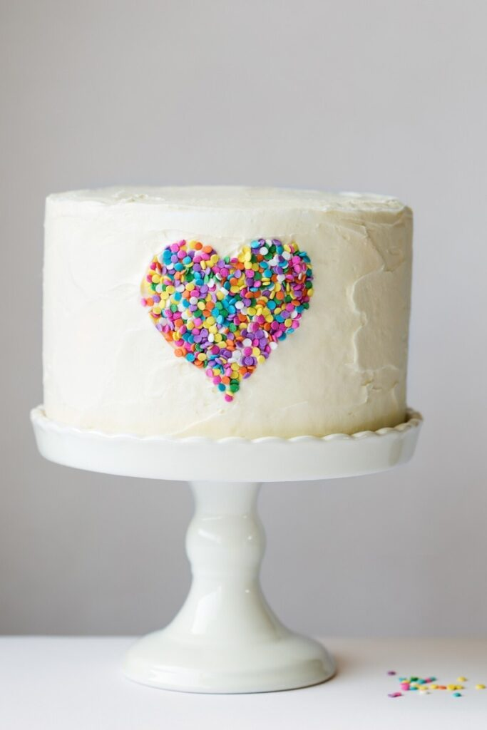Birthday Cake Ideas for Girls - Confetti Heart