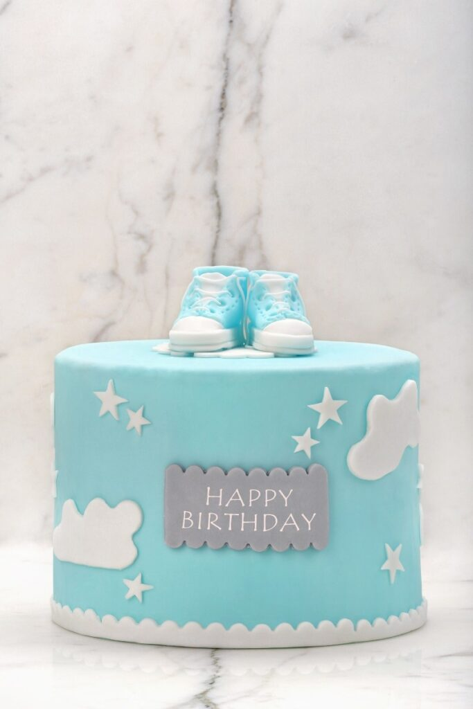 Blue Birthday Cakes - Blue Sky Cake