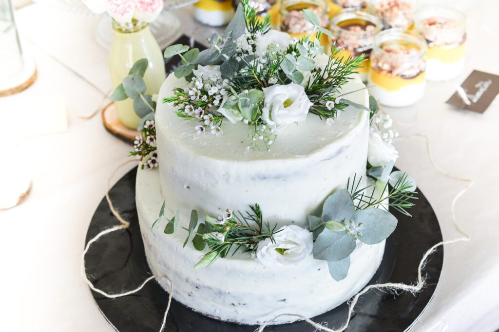 Botanical Elements Wedding Cake