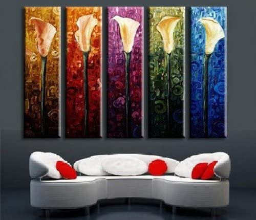 Calla Lily 5-Piece Rolled Canvas Modern Art Set