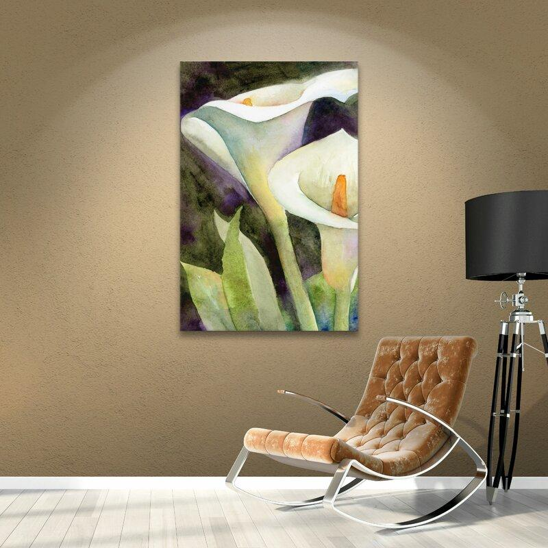 Calla Lily Painting Print on Canvas