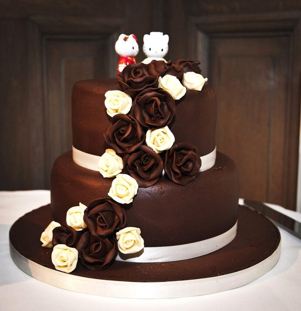 Chocolate Hello Kitty Wedding Cake
