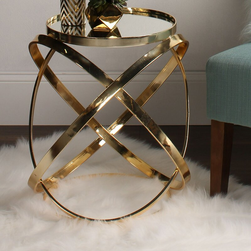Delmonte Gold End Table