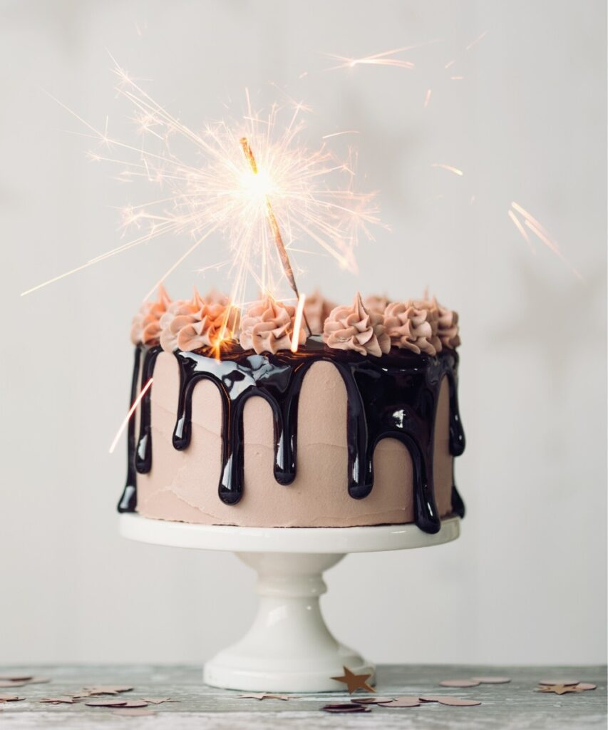 Dripping Gooey Chocolate Mocha Birthday Cake
