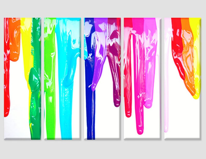Dripping Rainbow LGBTQ Oil Painting