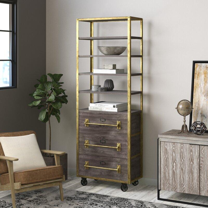 File Etagere Gold Bookcase