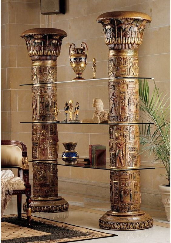 Gold Egyptian Etagere Bookcase