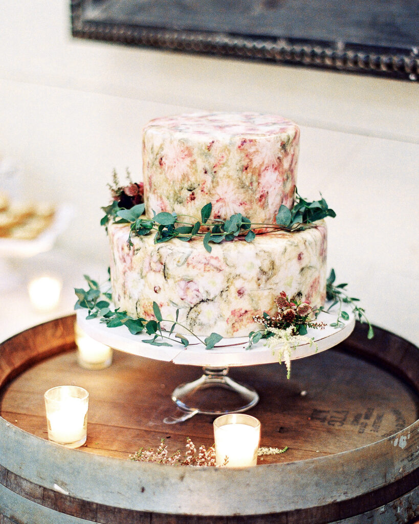 Hand-Painted Wedding Carrot Cake by Paradox Pastry