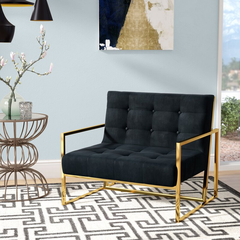 Jani Black & Gold Armchair