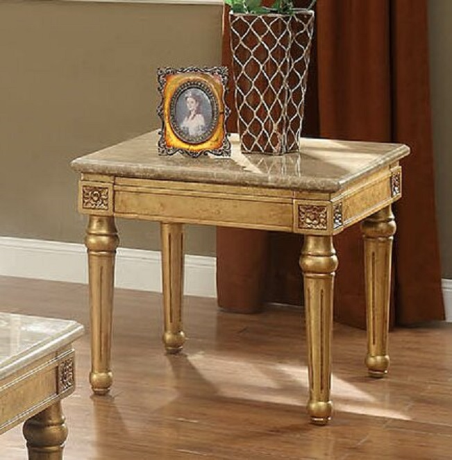 Jaylan Gold End Table
