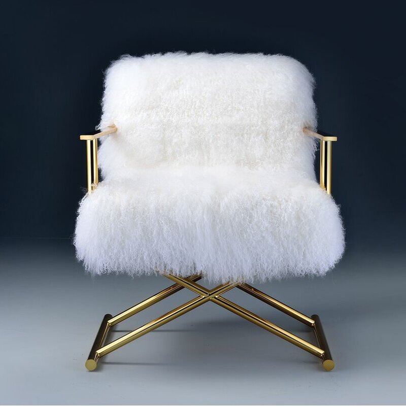 Kole Gold & White Armchair