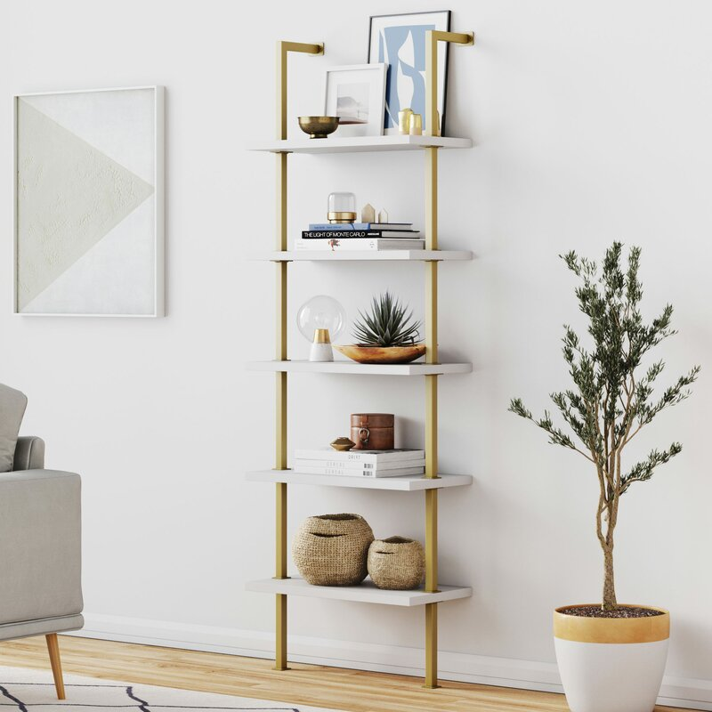 Moskowitz Ladder Gold Bookcase