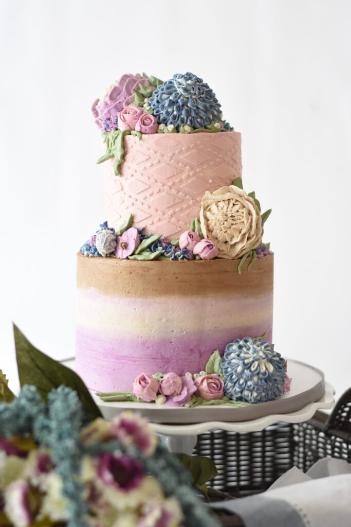 Multicolored Pastel Wedding Cake