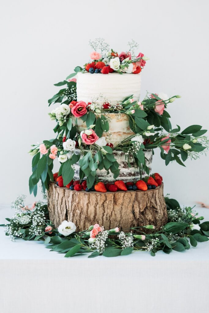 Nature's Bounty Wedding Cake