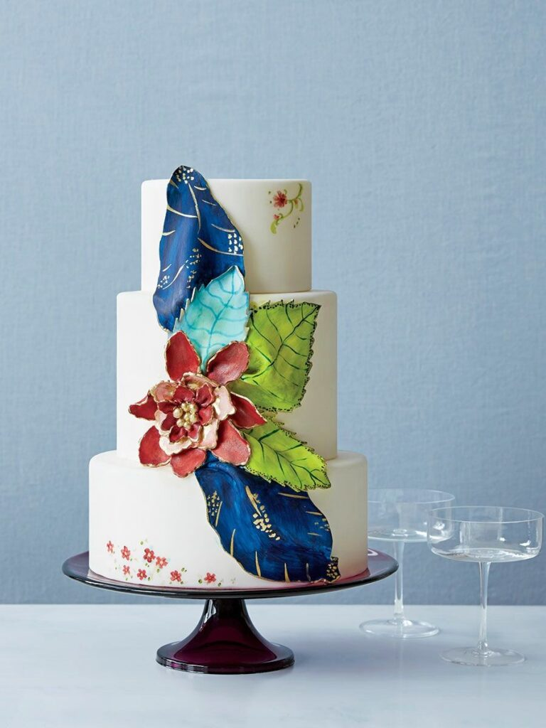 Oversized Bloom Wedding Cake photo by Addie Juell