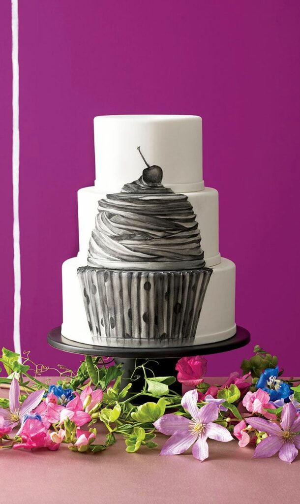 Painted Cupcake Wedding Cake photo by Devon Jarvis