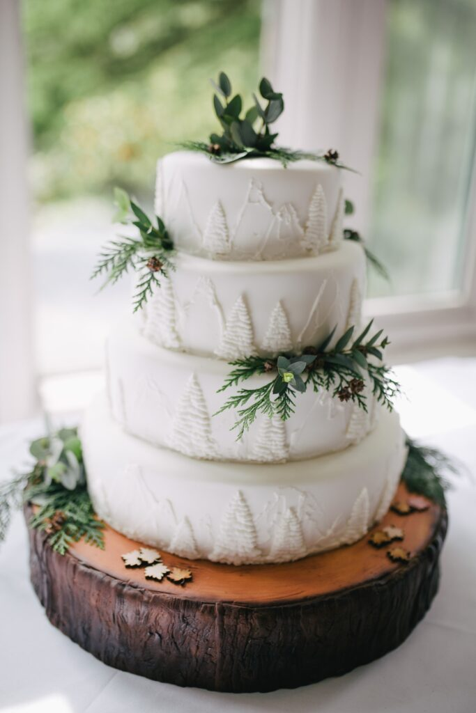 Pine Forest Wedding Cake