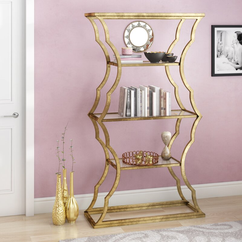 Roy Etagere Gold Bookcase