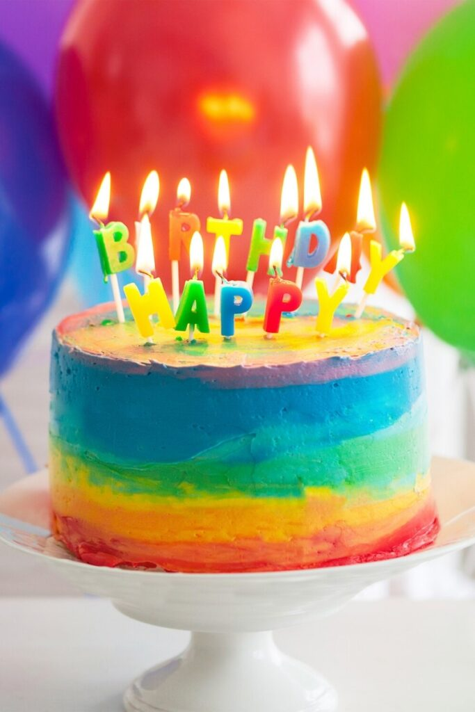 Spread the Rainbow Birthday Cakes