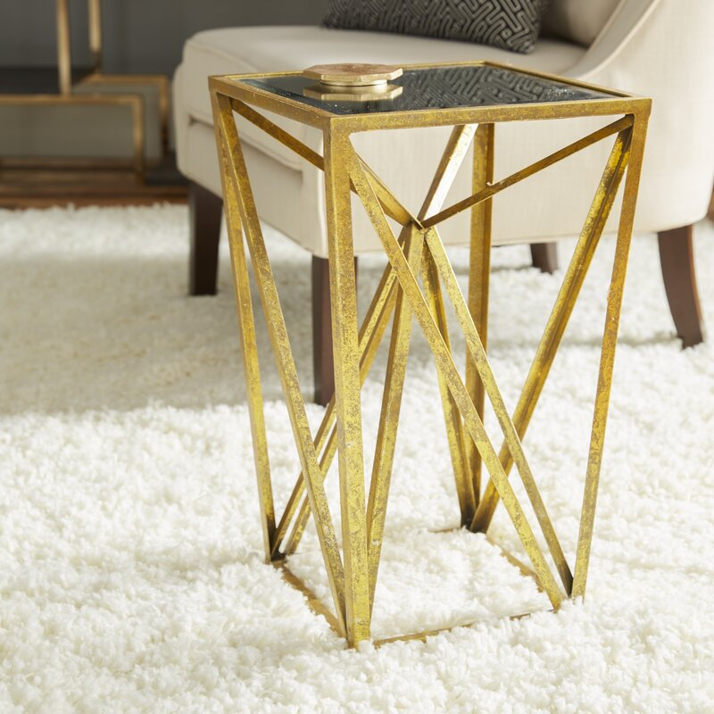Stenson Frame Gold End Table