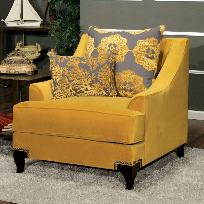 Viscontti Gold Upholstered Armchair