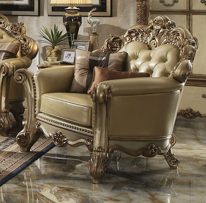 Welles Gold Armchair