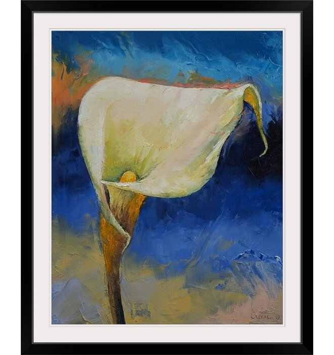 White Calla Lily by Michael Creese Framed Painting Print