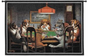 """A Friend in Need (Dogs Playing Poker) 